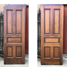 "D17110 - Single Antique Paneled Door 30"" x 80 1/4"""