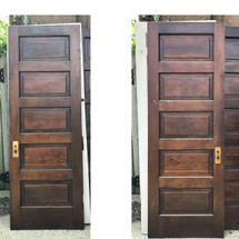 "D17112 - Single Antique Interior Five Panel Door 29-7/8"" x 83-1/4"""