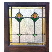 G17060 - Antique Arts and Crafts Stained Glass Window
