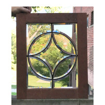 G17063 - Antique Colonial Revival Style Beveled Glass Window