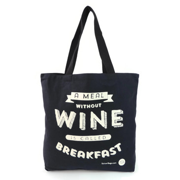 Meal without Wine Grocery Tote in Black