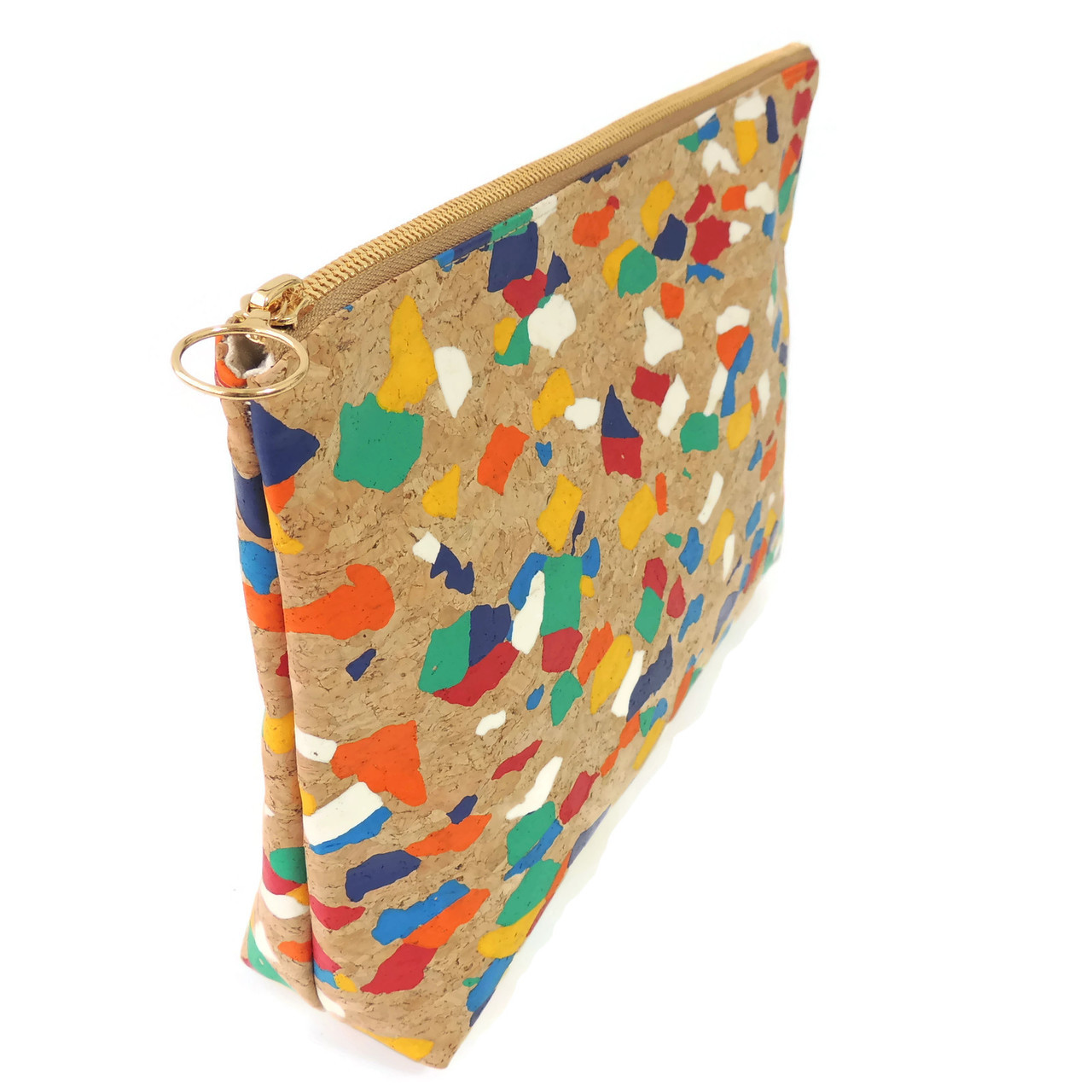 Carryall Clutch in Paint Palette Cork