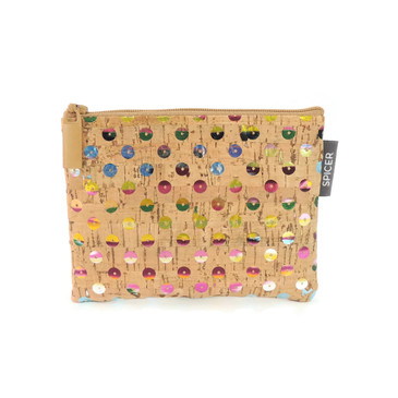 Mini Pouch in Sequin Cork