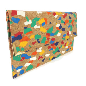 Folio Clutch in Paint Palette Cork