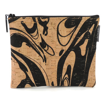 Pouch in Black Ink Cork
