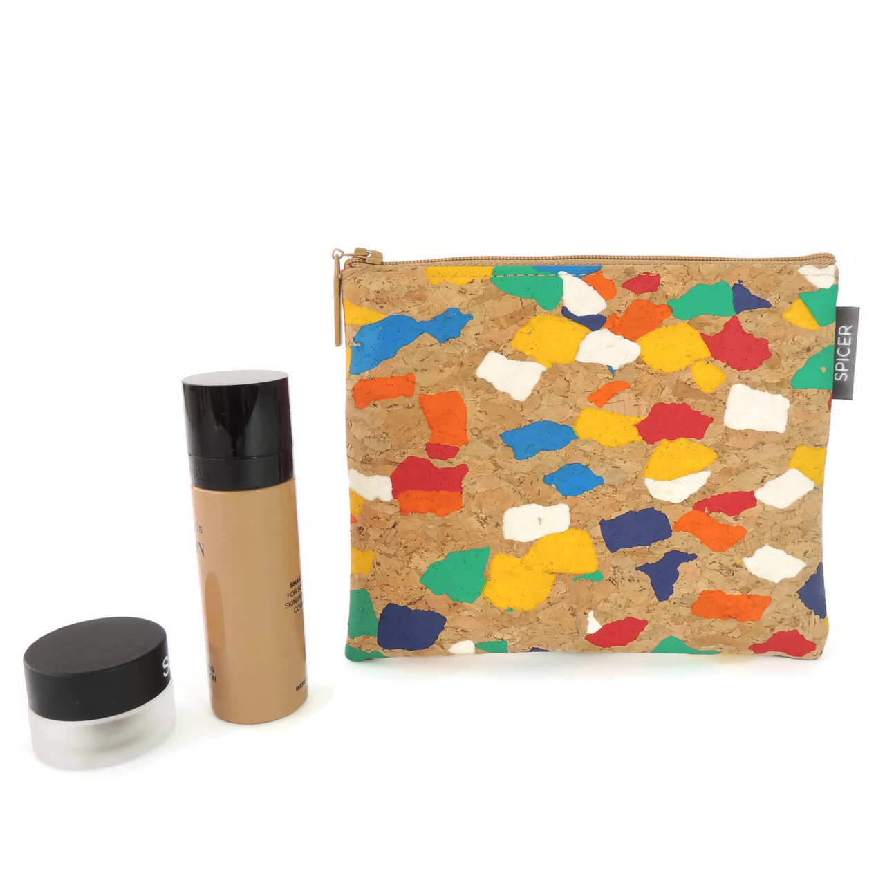 Pouch in Paint Palette Cork