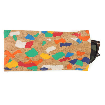 Eyeglass Case in Paint Palette Cork