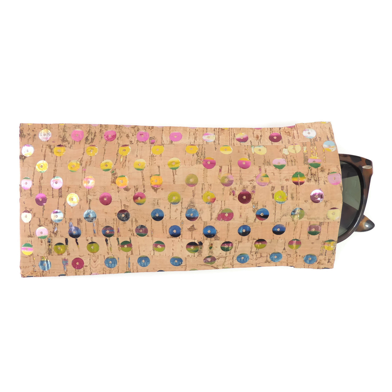 Eyeglass Case in Sequin Cork
