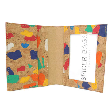 ID Wallet in Paint Palette Cork