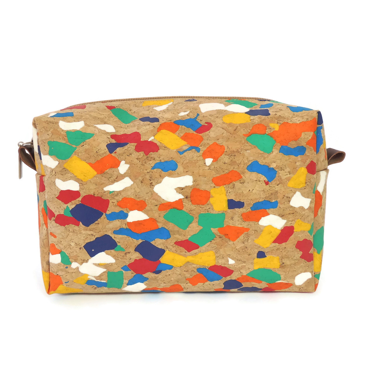 Toiletry Bag in Paint Palette Cork
