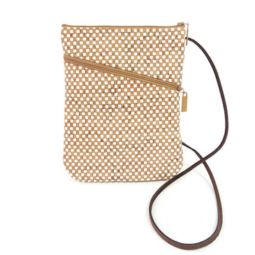 Social Bag in White Check Cork