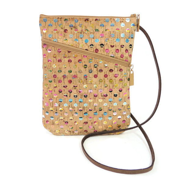 Social Bag in Sequin Cork