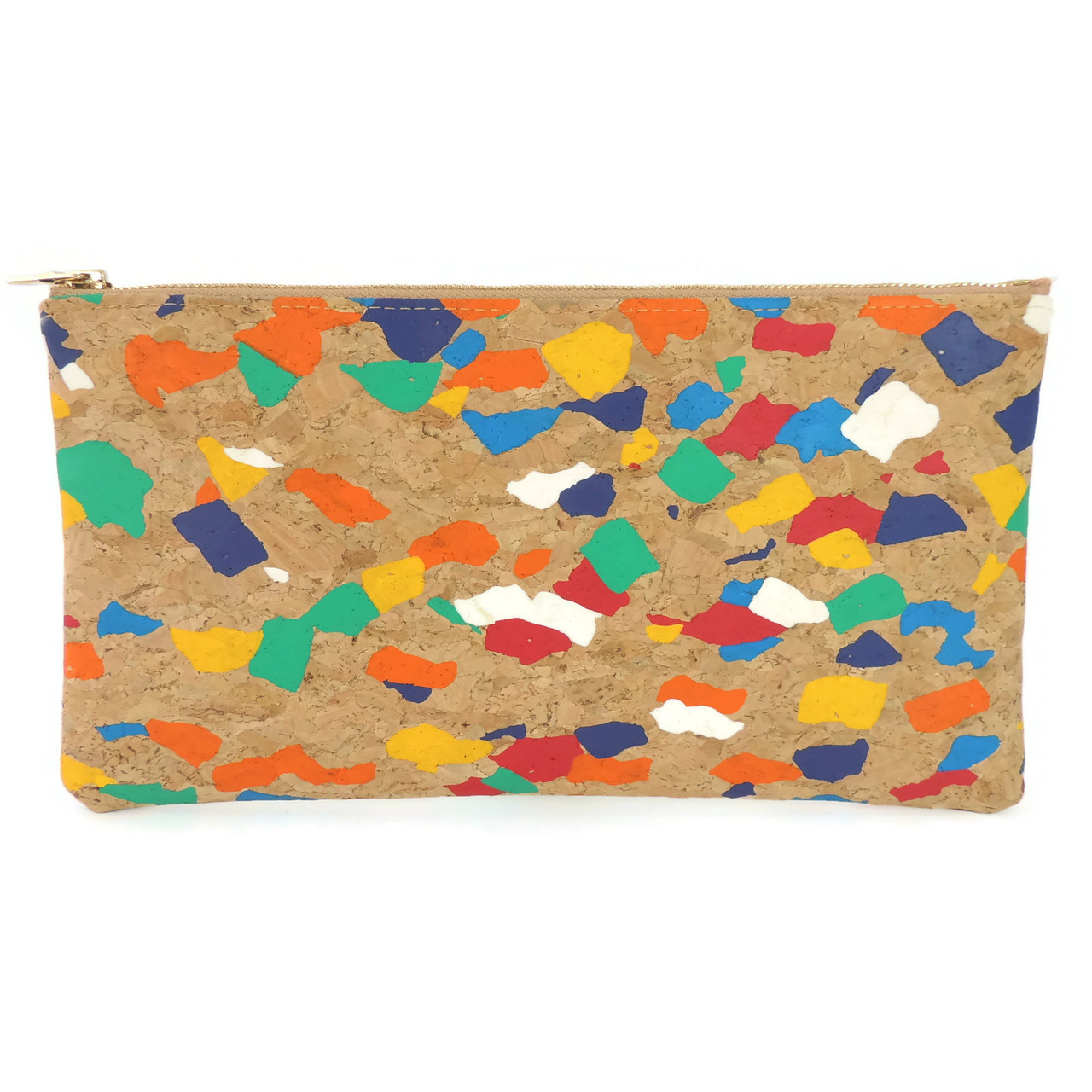 Wristlet in Paint Palette Cork