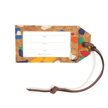 Luggage Tag in Paint Palette Cork