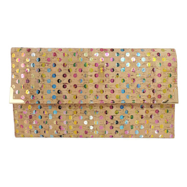 Folio Clutch in Sequin Cork
