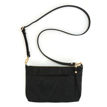 Crossbody Purse in Black Cork