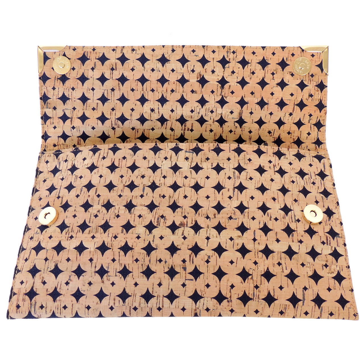Folio in Navy Cork Dots
