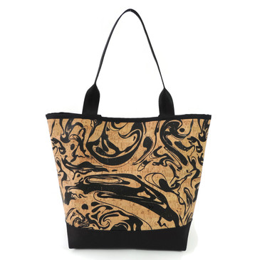 Signature Tote in Black Ink Cork