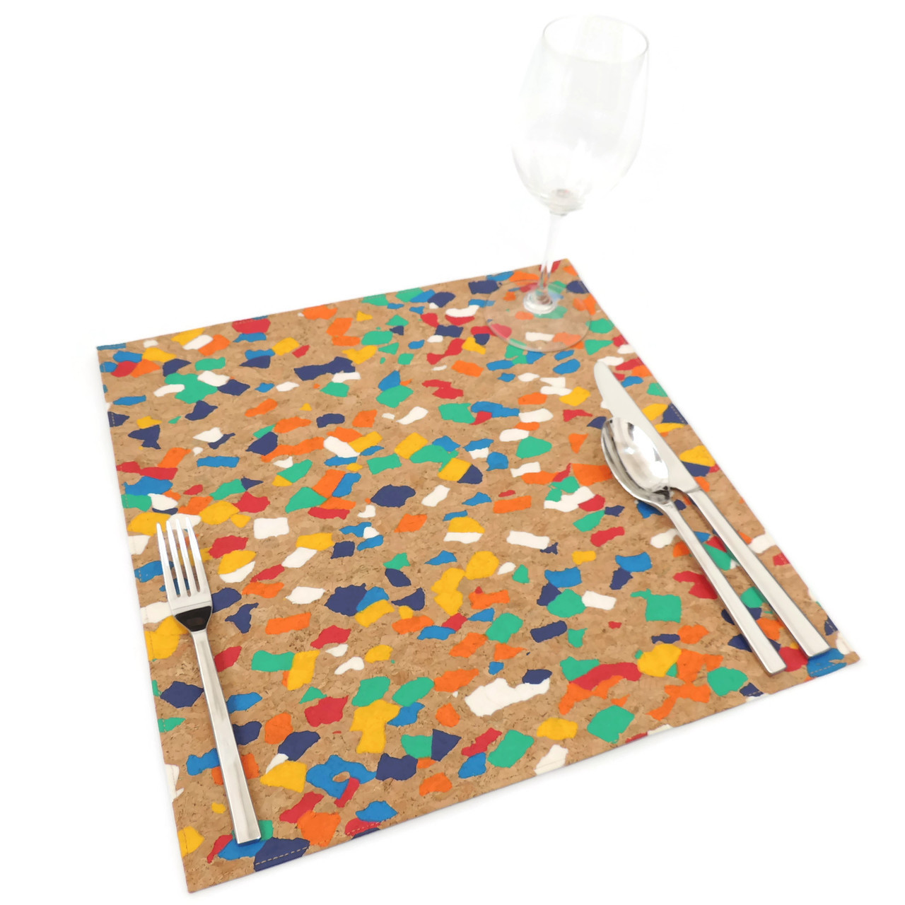 Square Placemat in Paint Palette Cork