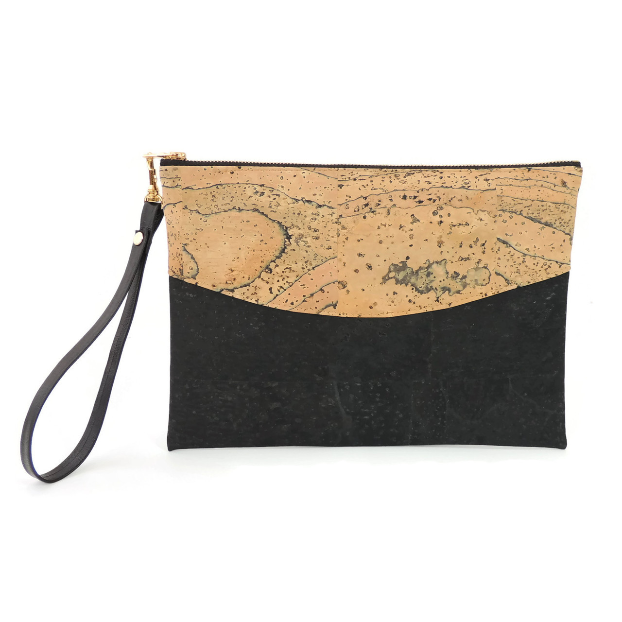 Smile Clutch in Marble Cork
