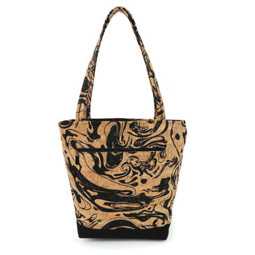 Classic Tote in Black Ink Cork