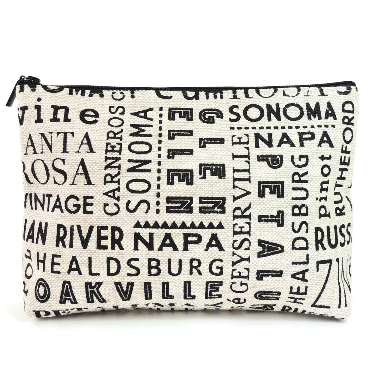 Carryall Clutch in Wine Country Linen