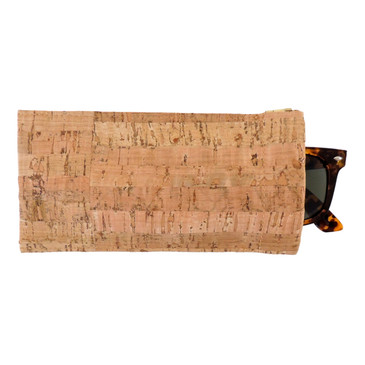 Cork Eyeglass Case in Cork Dash