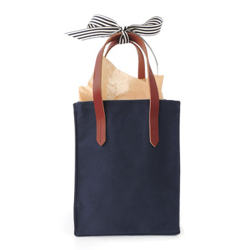 Small Tote in Navy Canvas