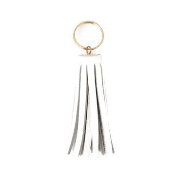 White Mini Tassel