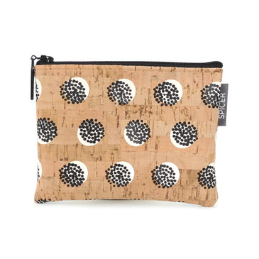 Mini Pouch in Black Dandelion Cork