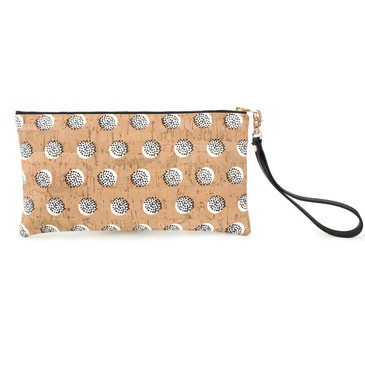 Wristlet in Black Dandelion Cork