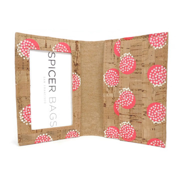 ID Wallet in Pink Dandelion Cork