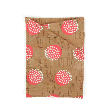 Card Case in Pink Dandelion Cork