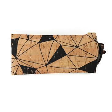 Eyeglass Case in Geo Cork