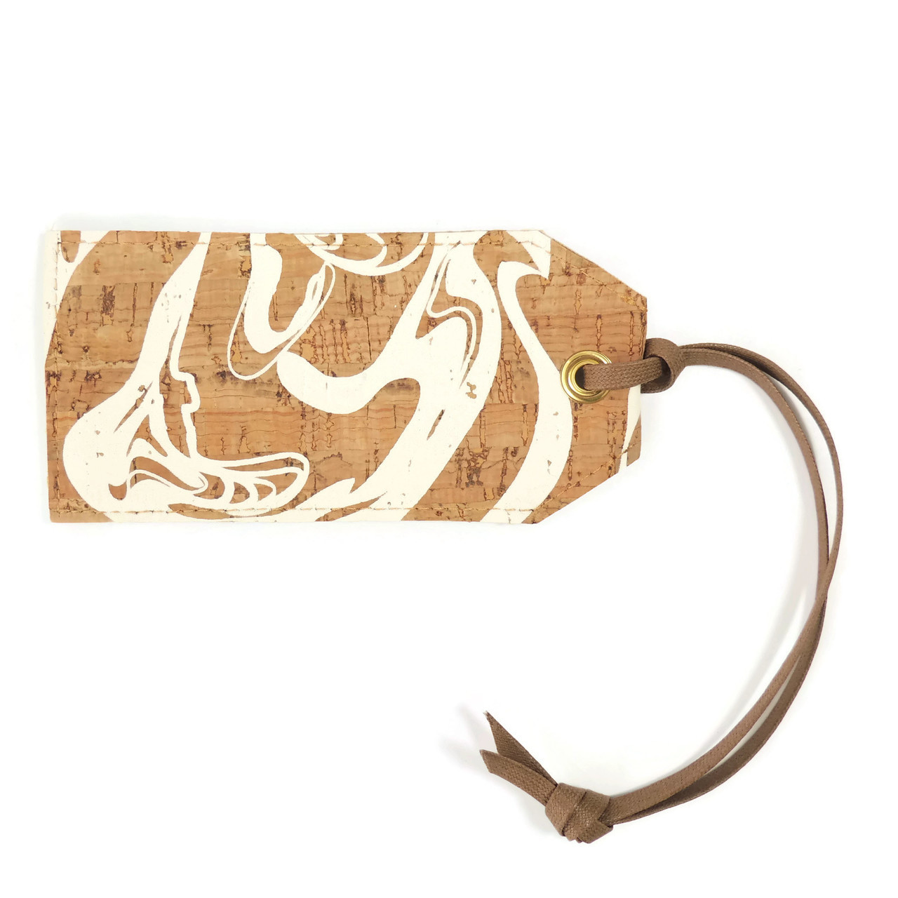 Luggage Tag in White Ink CorkLuggage Tag in White Ink Cork