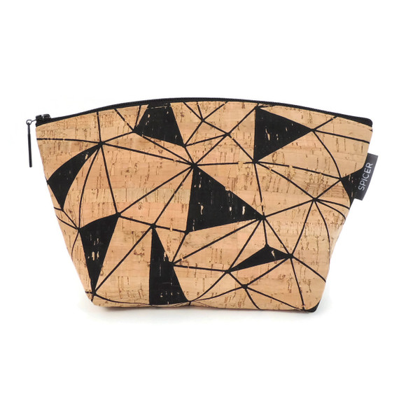 Small Standing Pouch in Geo Cork