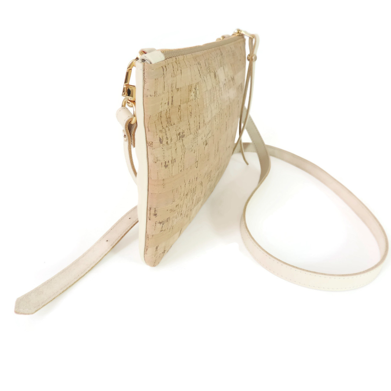 Cork & Leather Crossbody Purse in Cork Dash
