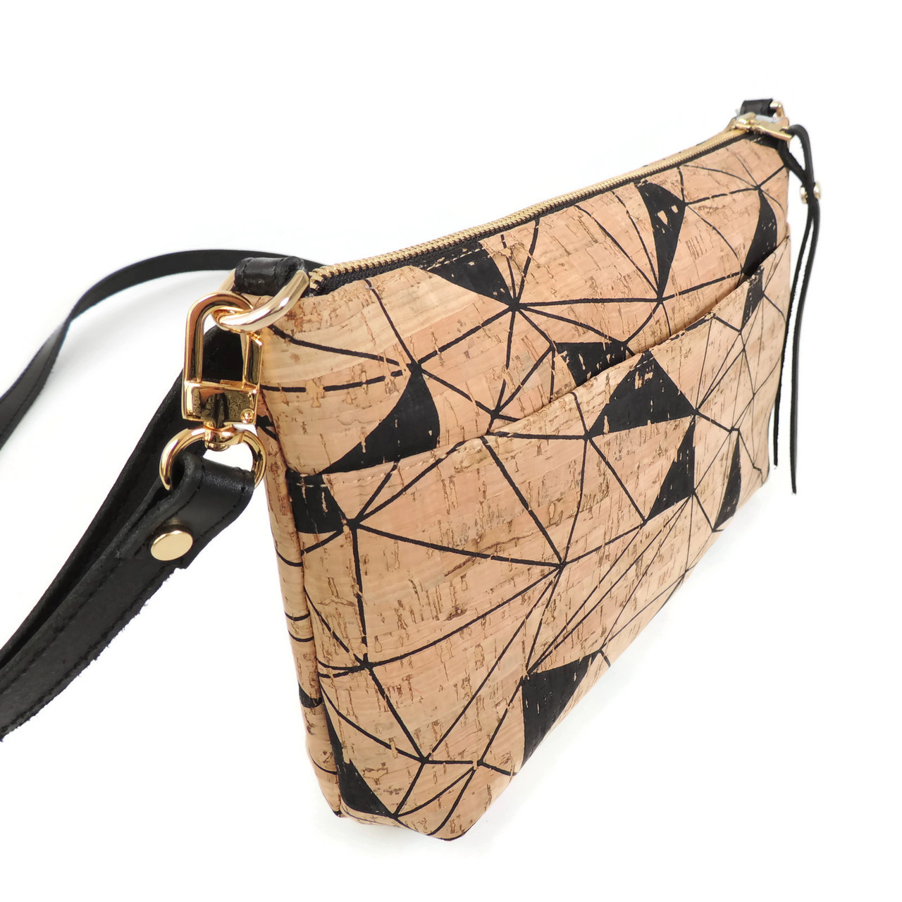 Crossbody Purse in Geo Cork