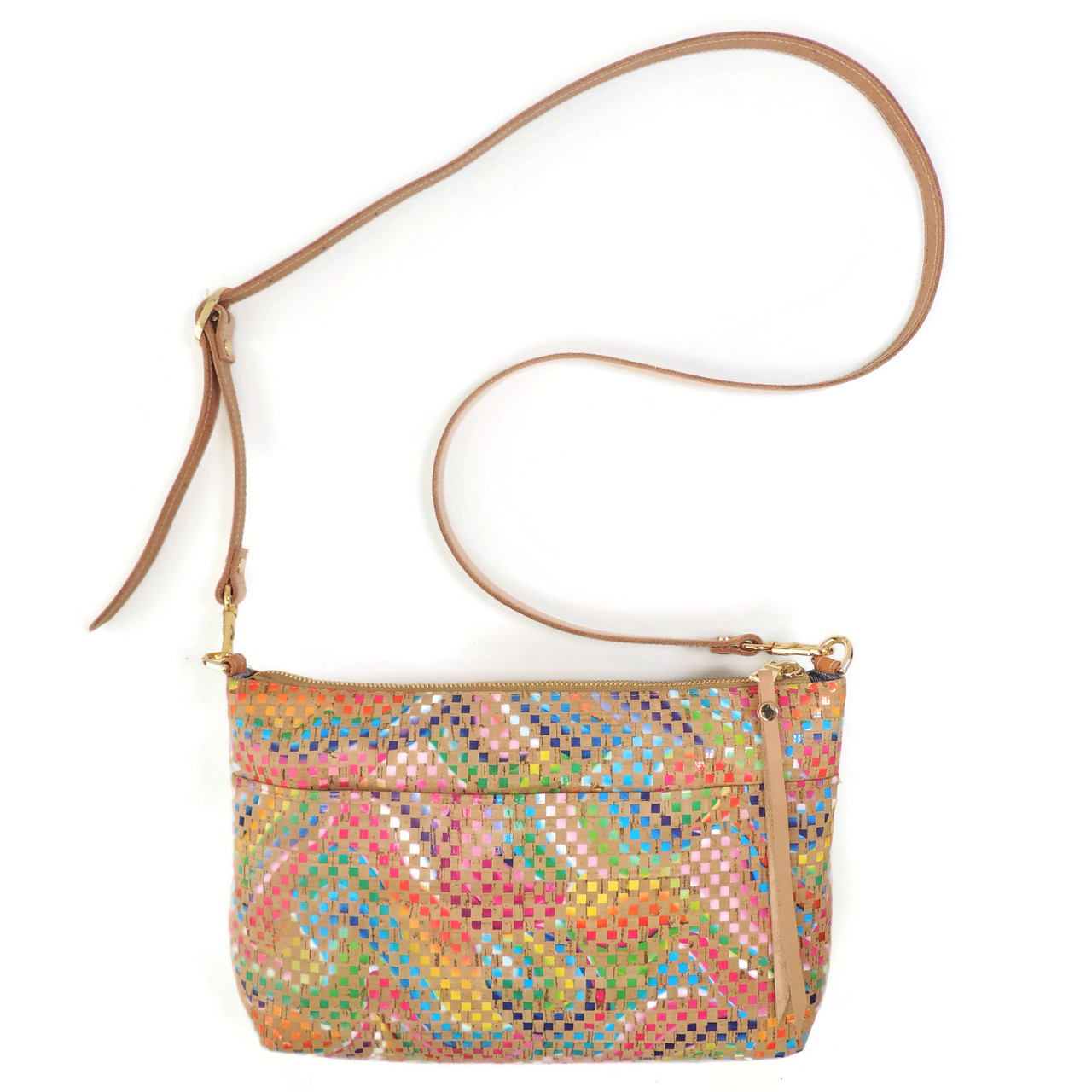 Crossbody Purse in Mosaic Cork