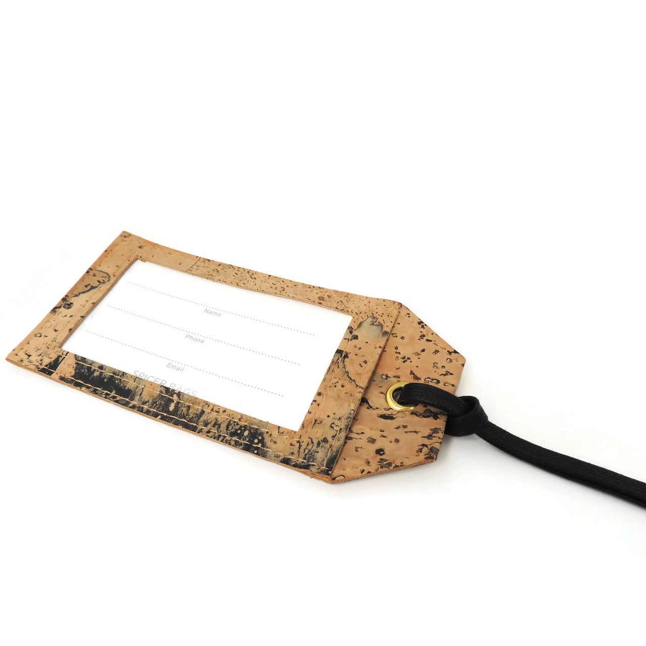 Luggage Tag in Marble Cork