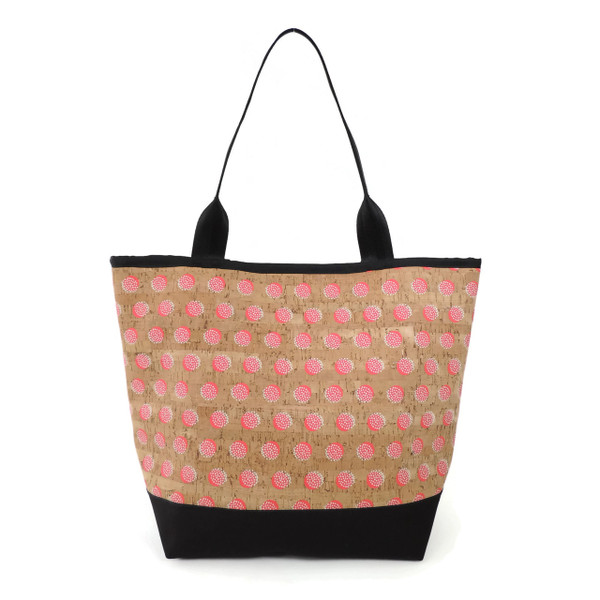 Signature Tote in Pink Dandelion Cork