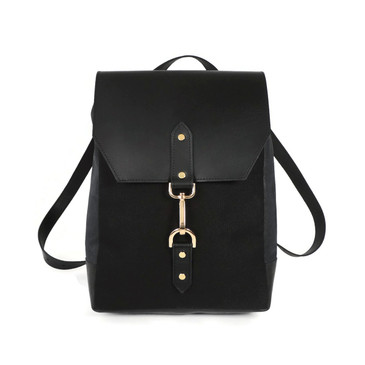 Cork & Leather Backpack in Black Cork