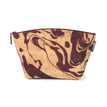 Small Standing Pouch in Maroon Ink Cork