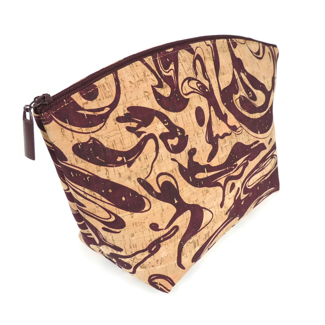 Large Standing Pouch in Maroon Ink Cork