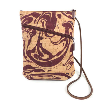 Social Bag in Maroon Ink Cork