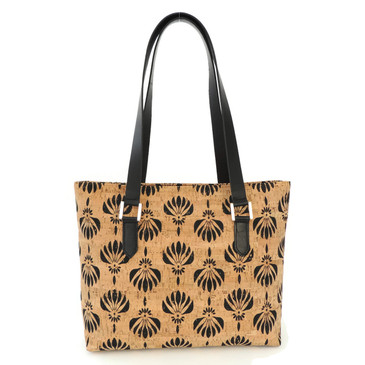Boot Tote in Black Lotus Cork