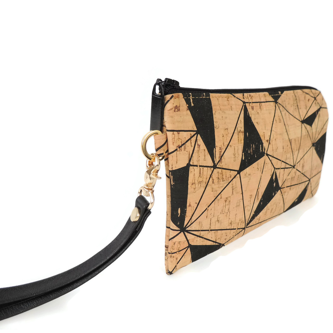 Phone Wristlet in Geo Cork