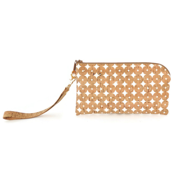 Phone Wristlet in Cork Dots