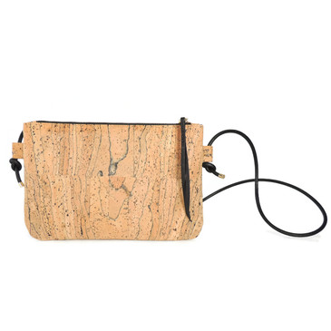 Cork Strap Crossbody Purse in Marble Cork