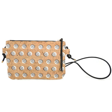 Cork Strap Crossbody Purse in Black Dandelion Cork